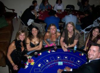Casino house party in Weston, Florida