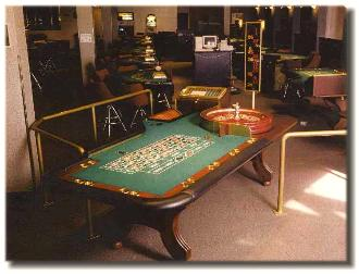 John Huxley roulette table in Las Vegas before purchase by Casino Party Nights Florida, Inc.